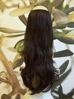 DARK BROWN 1 PIECE HAIR EXTENSION 25 INCHES LONG #6